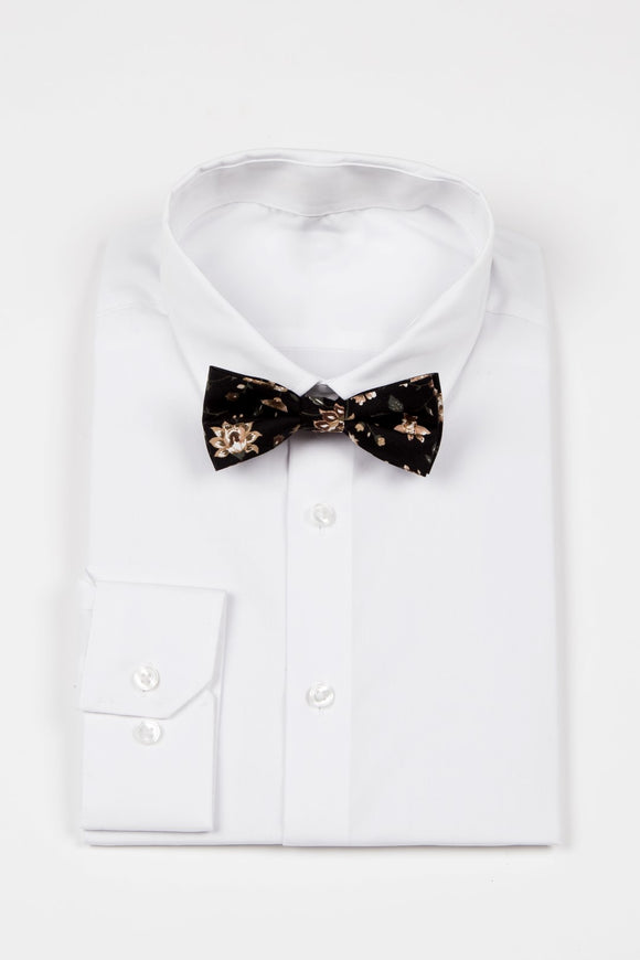Finn - JCclick Shop Black with neutral floral bowtie-Localizedrsa -Enhance your RSA online shopping experience with localizedrsa, with 10 shopping departments to choose from!-Buy online in South Africa-www.localizedrsa.co.za