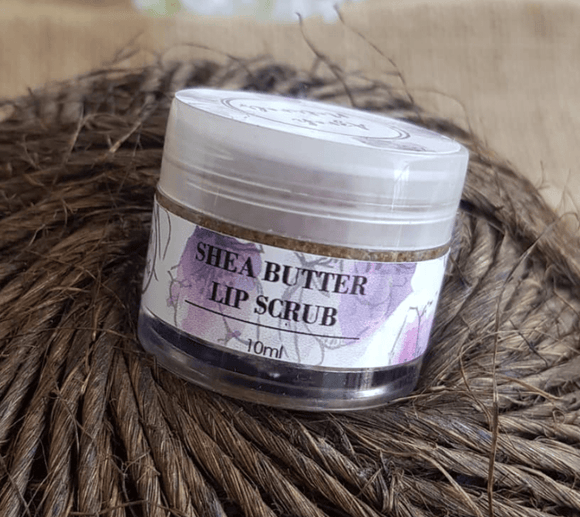 Shea butter lip scrub