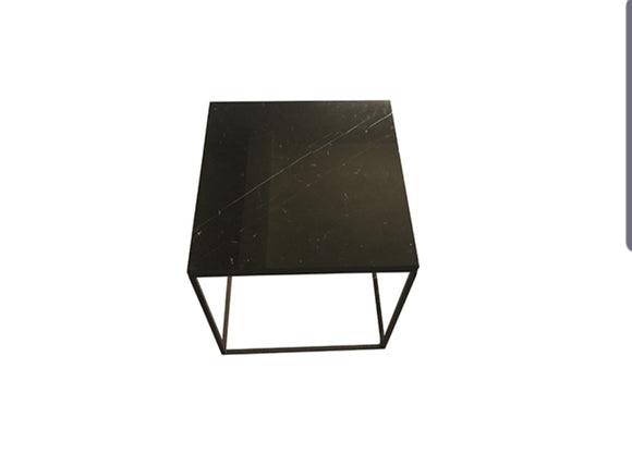 Black Marble Top Side Table