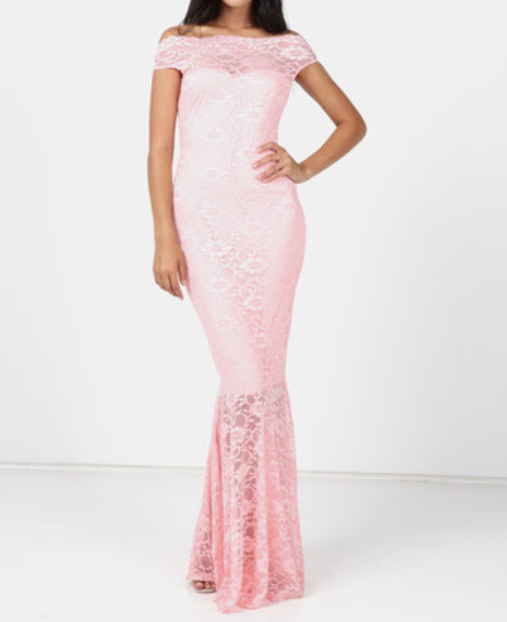 Vertigo Lace Off Shoulder Mermaid Gown - Pink-Localizedrsa -Enhance your RSA online shopping experience with localizedrsa, with 10 shopping departments to choose from!-Buy online in South Africa-www.localizedrsa.co.za