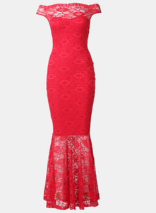 Vertigo Lace Off Shoulder Mermaid Gown - Red-Localizedrsa -Enhance your RSA online shopping experience with localizedrsa, with 10 shopping departments to choose from!-Buy online in South Africa-www.localizedrsa.co.za