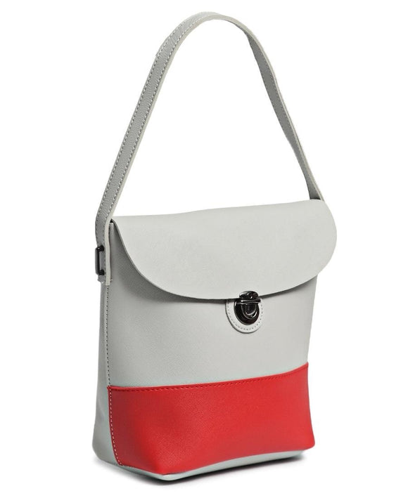 Crossbody bag in grey