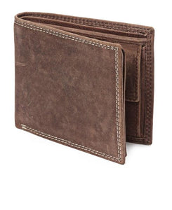 GENUINE LEATHER WALLET-BROWN