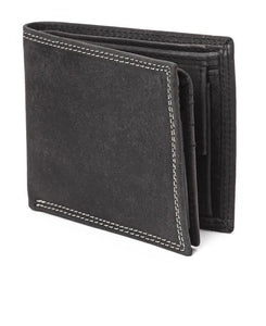 GENUINE LEATHER WALLET-BLACK
