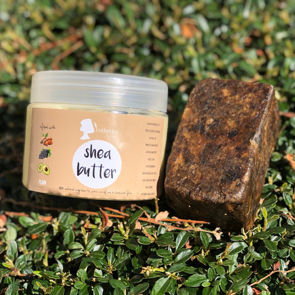 Grape Seed Oil infused Shea Butter + 200g African Black Soap