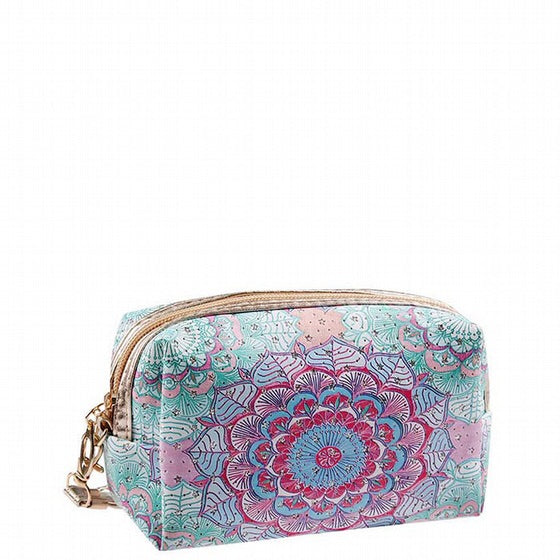 Make-up Pouch - Floral Medley (15 x 7 x 10cm)-Localizedrsa -Enhance your RSA online shopping experience with localizedrsa, with 10 shopping departments to choose from!-Buy online in South Africa-www.localizedrsa.co.za