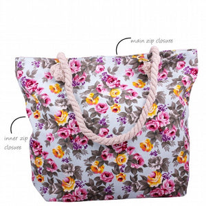 Jenam Canvas Casual Bag - Blue Floral-Localizedrsa -Enhance your RSA online shopping experience with localizedrsa, with 10 shopping departments to choose from!-Buy online in South Africa-www.localizedrsa.co.za