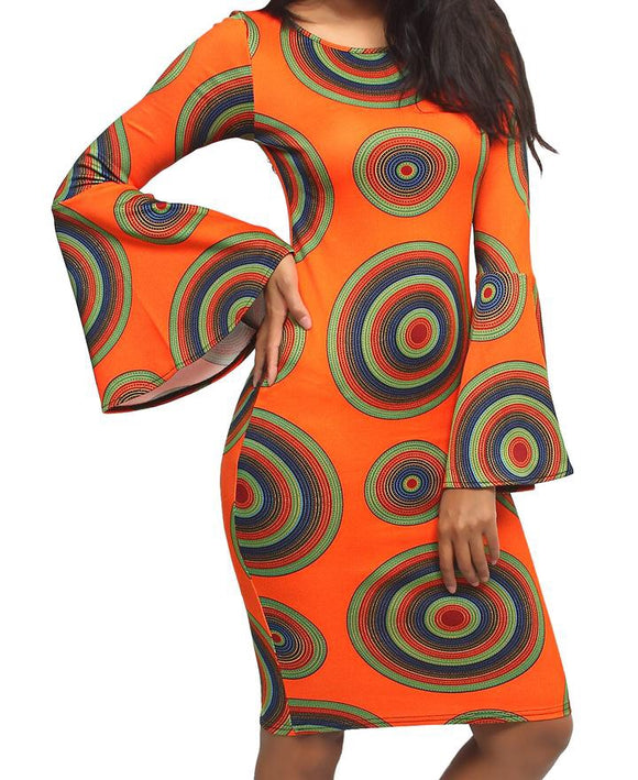 BELL SLEEVE DRESS ORANGE-Localizedrsa -Enhance your RSA online shopping experience with localizedrsa, with 10 shopping departments to choose from!-Buy online in South Africa-www.localizedrsa.co.za