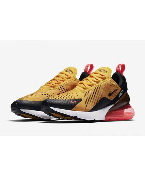 Nike Air Max 270 Orange Black Hot Punch White University Gold Trainer-Localizedrsa -Enhance your RSA online shopping experience with localizedrsa, with 10 shopping departments to choose from!-Buy online in South Africa-www.localizedrsa.co.za