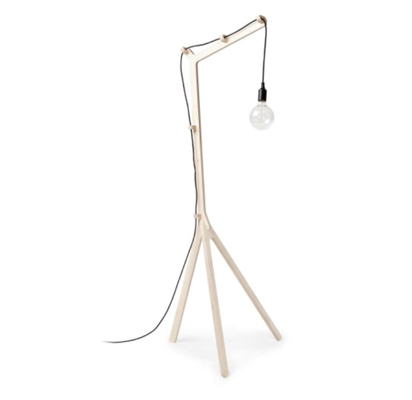 Unique standing lamps - A beautiful standing lamp crafted from fine birch wood. A great accent piece for your living room or bedroom. This lamp comes with 2 sets of cable controls, switch, plug and 2500mm L cord. Shop these wooden floor lamps for living rooms.