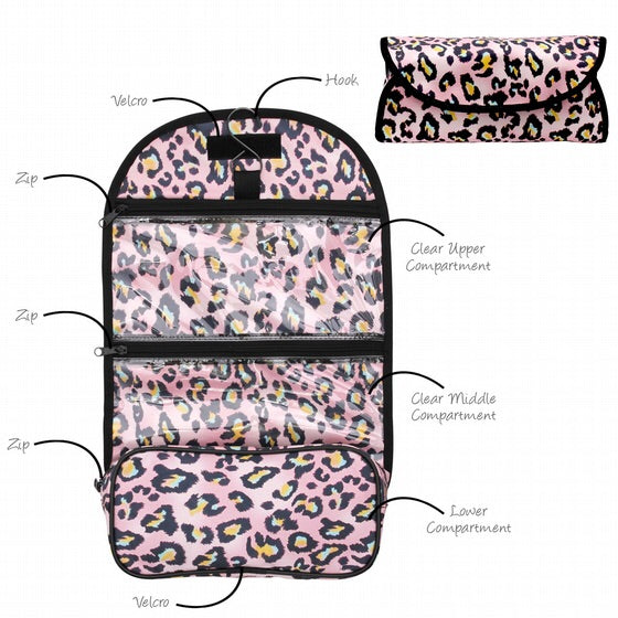 Roll Up Cosmetic Organiser (With Hanging Hook) - 30 x 8 x 14cm (Folded) - 30 x 8 x 47cm (Open)-Localizedrsa -Enhance your RSA online shopping experience with localizedrsa, with 10 shopping departments to choose from!-Buy online in South Africa-www.localizedrsa.co.za