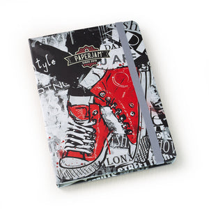 Designer Hardcover A5 Journal - Red Sneakers