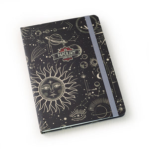 Designer Hardcover A5 Journal - Sun Moon Stars