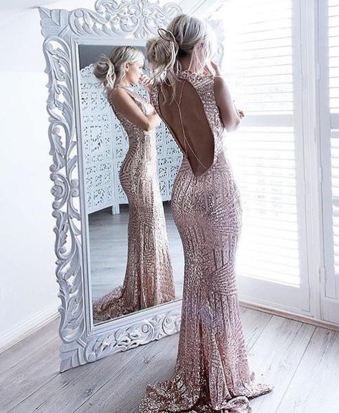 Romantic Dreams Rose Gold Sequin Gown-Localizedrsa -Enhance your RSA online shopping experience with localizedrsa, with 10 shopping departments to choose from!-Buy online in South Africa-www.localizedrsa.co.za