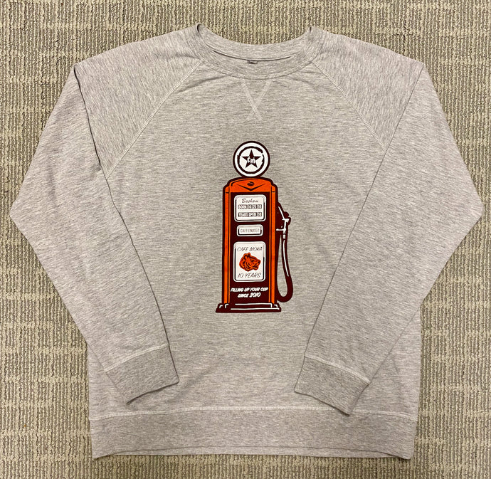 Heather Grey Anniversary French Terry Raglan Crew