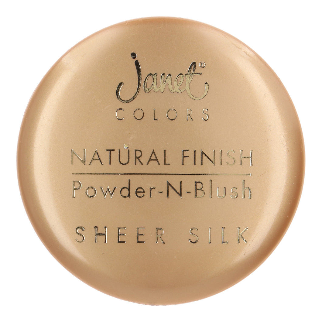 Janet colors Natural Finish Powder -N-Blush Sheer silk No:7 Deep Bronze 20 gm