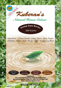 herbal dark brown hair powder