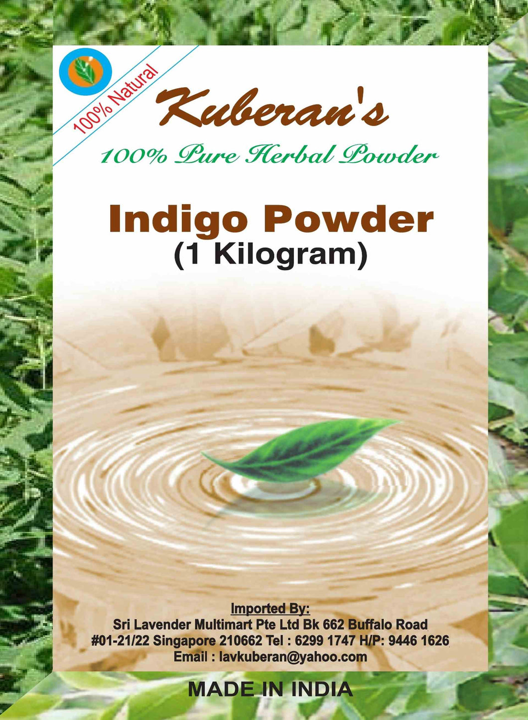 herbal indiga hair powder