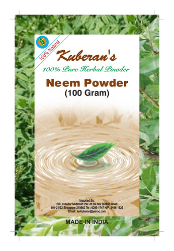 Herbal neem hair powder