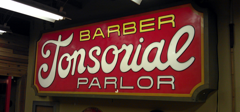Barberside Tonsorial Sign