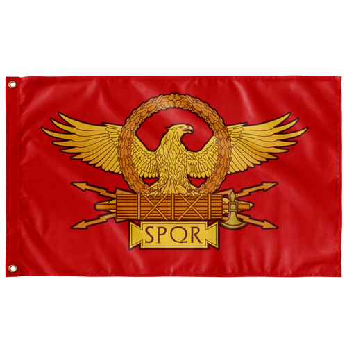 "SPQR Roman Eagle Wall Flag - 36""x60"" - (ONE-SIDED SEMITRANSPARENT)"
