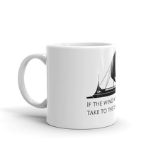 Load image into Gallery viewer, If The Wind Will Not Serve Take To The Oars - Motivational Stoic Philosophy Mug