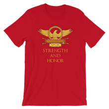 Load image into Gallery viewer, Strength And Honor Roman Eagle SPQR Legionary Standard Aquila Short-Sleeve Unisex T-Shirt