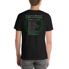 Load image into Gallery viewer, Scipio Africanus World Tour Second Punic War Laurel Wreath Back Design Short-Sleeve Double Sided Print Unisex T-Shirt