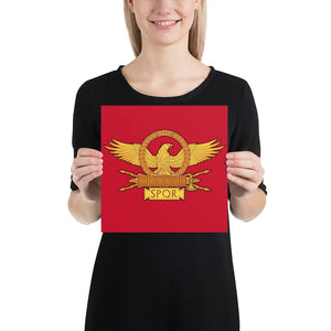 Roman Eagle SPQR Enhanced Matte Paper Poster