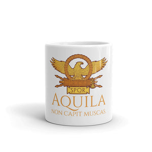 Aquila Non Capit Muscas - The Eagle Does Not Catch Flies - Roman Eagle Coffee Mug