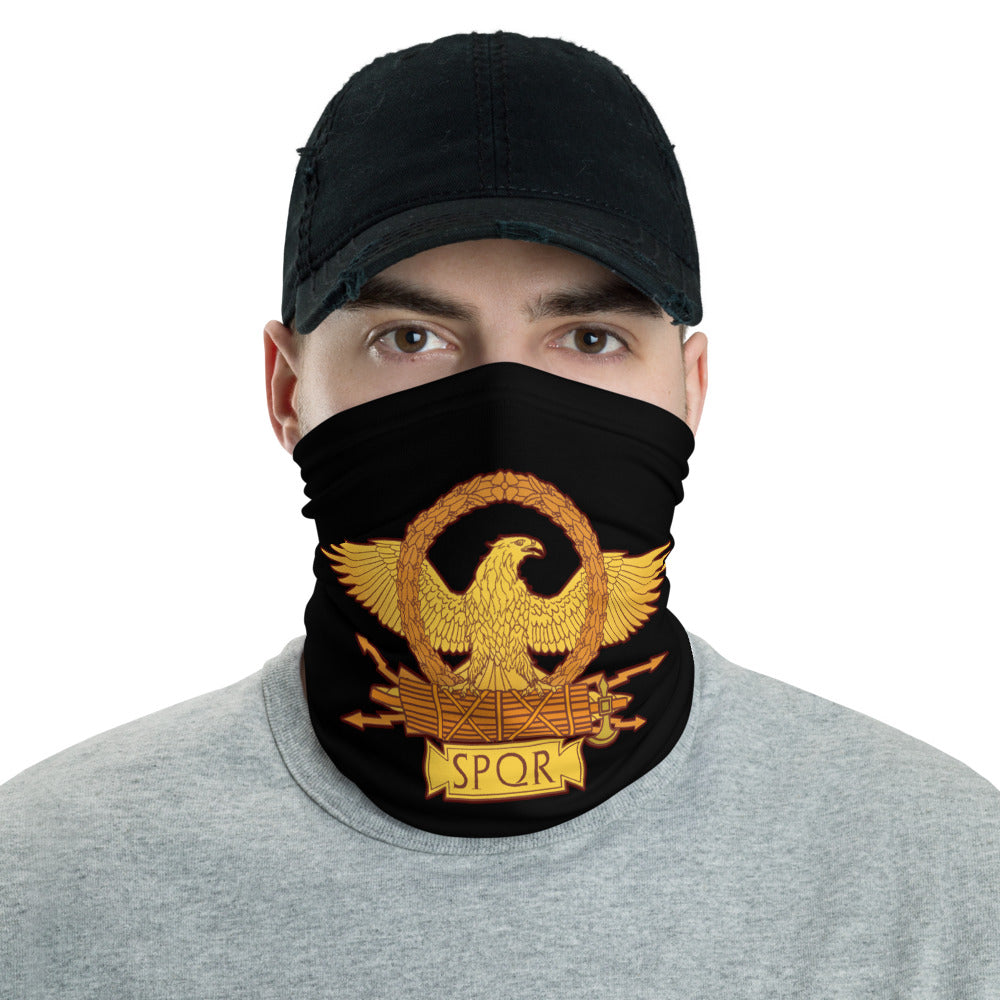 Anti Barbarian Black SPQR Roman Eagle Neck Gaiter