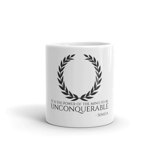 It Is The Power Of The Mind To Be Unconquerable - Seneca - Motivational Stoic Philosophy Mug