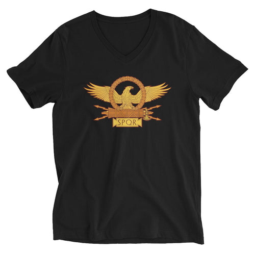 Roman Eagle SPQR Unisex Short Sleeve V-Neck T-Shirt