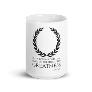 Motivational Stoic philosophy coffee mug