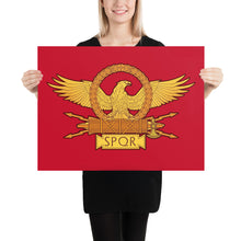 Load image into Gallery viewer, Roman Eagle SPQR Enhanced Matte Paper Poster