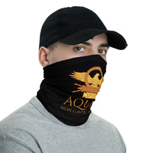 Load image into Gallery viewer, Aquila Non Capit Muscas - The Eagle Does Not Catch Flies - Roman Eagle Anti Barbarian Neck Gaiter