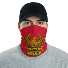 Load image into Gallery viewer, Anti Barbarian Red SPQR Roman Legionary Aquila Neck Gaiter