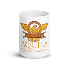 Load image into Gallery viewer, Aquila Non Capit Muscas - The Eagle Does Not Catch Flies - Roman Eagle Coffee Mug