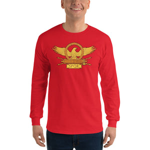 SPQR Roman Legionary Eagle Men's Long Sleeve Shirt