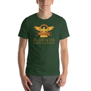 Audentes Fortuna Iuvat - Fortune Favors The Bold - Ancient Rome Short-Sleeve Unisex T-Shirt