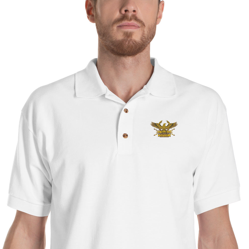 Roman Eagle - Ancient Rome Embroidered Polo Shirt