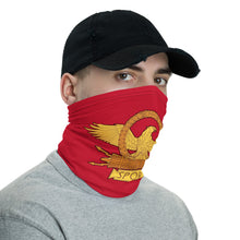Load image into Gallery viewer, Anti Barbarian Red SPQR Roman Eagle Neck Gaiter