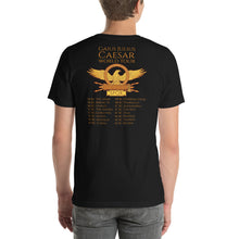 Load image into Gallery viewer, Gaius Julius Caesar World Tour - Ancient Rome Double Sided Print Short-Sleeve Unisex T-Shirt