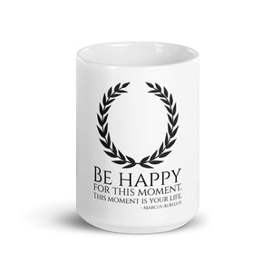 Stoic Philosophy Emperor Marcus Aurelius Quote On Happiness Coffee Mug
