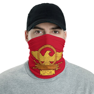 Anti Barbarian Red SPQR Roman Eagle Neck Gaiter