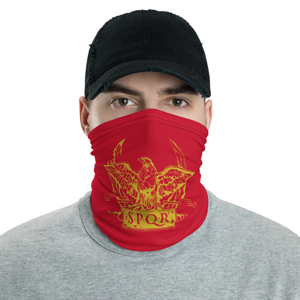 Anti Barbarian Red SPQR Roman Legionary Standard Neck Gaiter