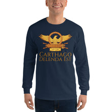 Load image into Gallery viewer, Carthago Delenda Est - Ancient Rome Men's Long Sleeve Shirt