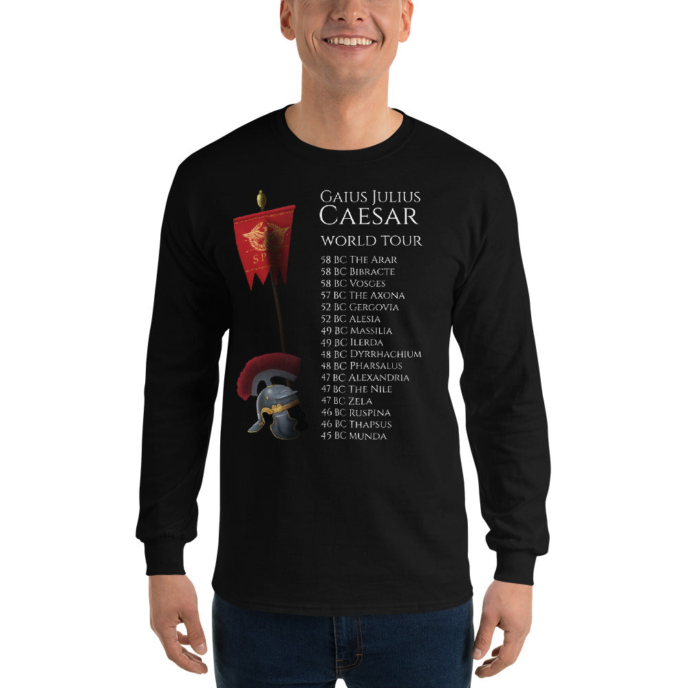 Gaius Julius Caesar World Tour - Ancient Rome Men's Long Sleeve Shirt