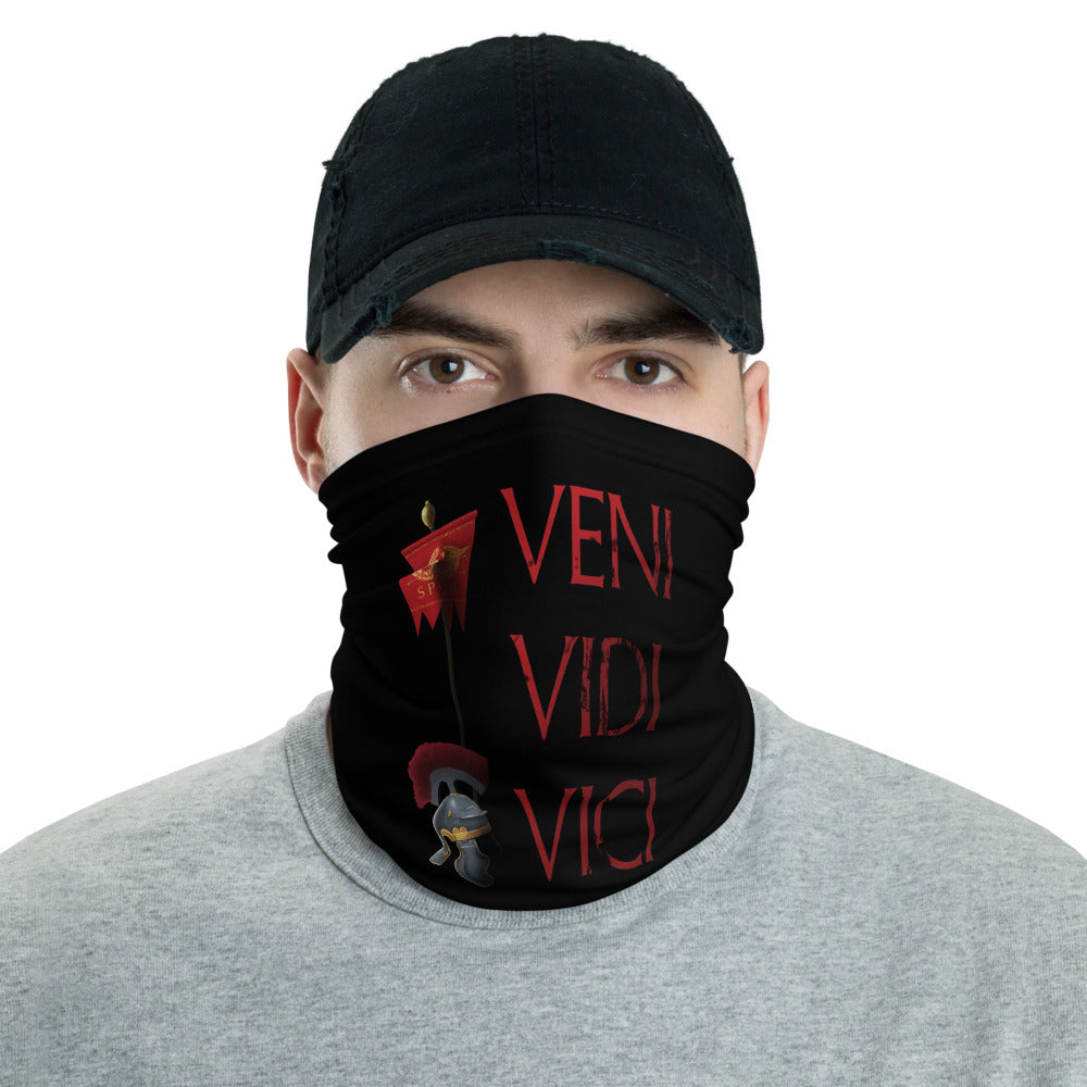 Anti Barbarian SPQR Veni Vidi Vici Ancient Rome Neck Gaiter