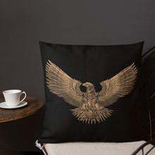 Load image into Gallery viewer, Steampunk Roman Eagle SPQR Premium Pillow